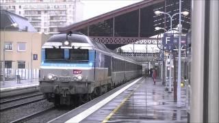 Sur la ligne 4 SNCF Paris-Troyes-Mulhouse-Bale en Gare de Troyes. 6 et 10/07/2012