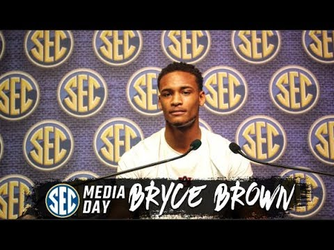auburn-senior-guard-bryce-brown-speaks-at-sec-media-day