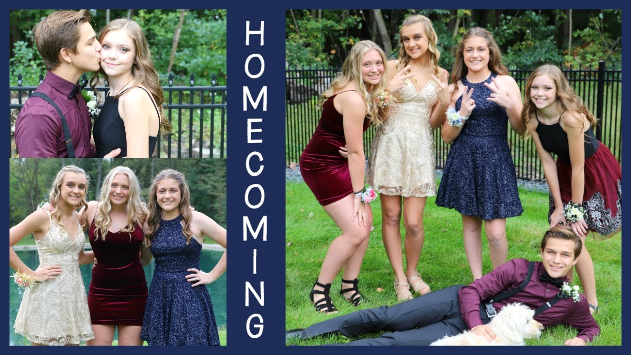 Homecoming 2018 Getting Ready Pre Dance Photos Youtube