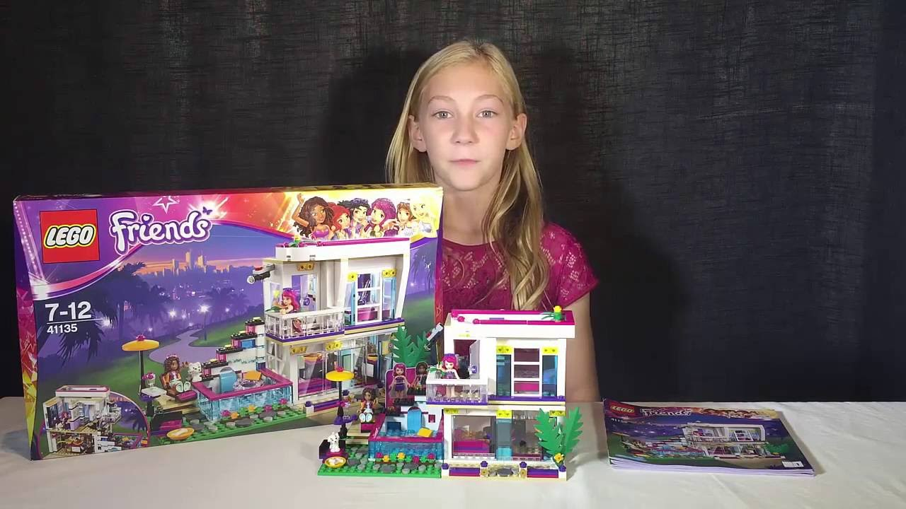 Lego Friends Livis Pop Star House 41135 Review Youtube