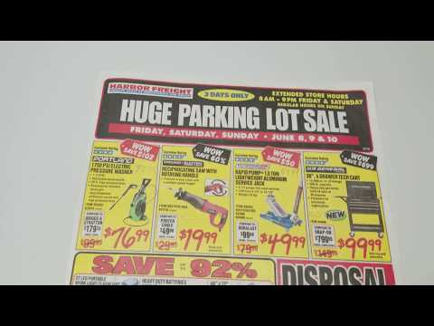 Harbor Freight Parking Lot Sale Price Tracking! (June 2018)