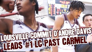 Louisville Commit D'Andre Davis LEADS #1 Lawrence Central Past Carmel in Mic Game Of The Week