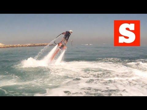 Stuff magazine goes Flyboarding in Dubai