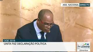 DECLARAÇÃO POLÍTICA DA UNITA SOBRE ORÇAMENTO GERAL DO ESTADO DE 2018