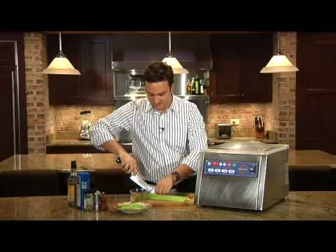 Rapid pickling with a chamber vacuum sealer