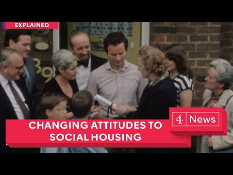 How have attitudes changed towards social housing in the UK?