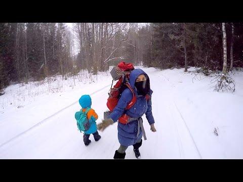 Путешествие в Эстонии - Поход: Liiapeksi - Aegvidu (32км) / Travel in Estonia - Winter Forrest Camp