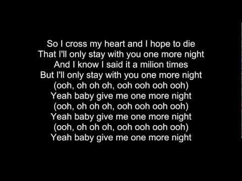 Maroon5 - One More Night With Lyrics