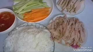 Cách làm bánh đa cuốn đơn giản mà dễ ăn.