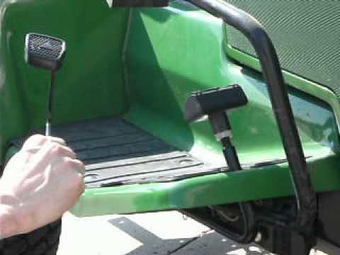 John Deere 445 >> Installing the MJ400RP Enhanced reverse pedal for John ...