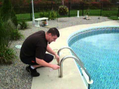 How To Remove Inground Pool Ladder Youtube