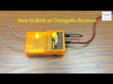 orange rx binding process tutorial - binding a r920x to a spektrum dx6i -  youtube