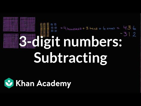 Subtracting Hundreds, Tens, And Ones | Early Math | Khan Academy