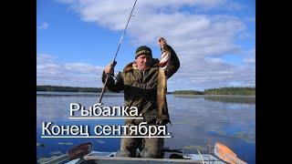 Рыбалка Неделя на озере в конце сентября