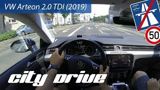 VW Arteon 2.0 TDI (2019) - POV City Drive