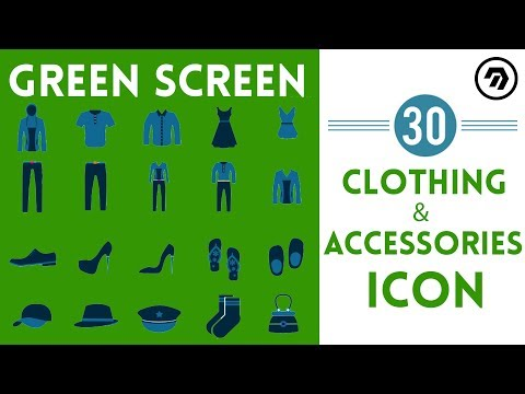 30 Green Screen clothing & accessories Icon | mrstheboss