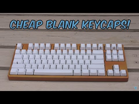 Cheap Blank White PBT Keycaps - Unboxing and Quick Review