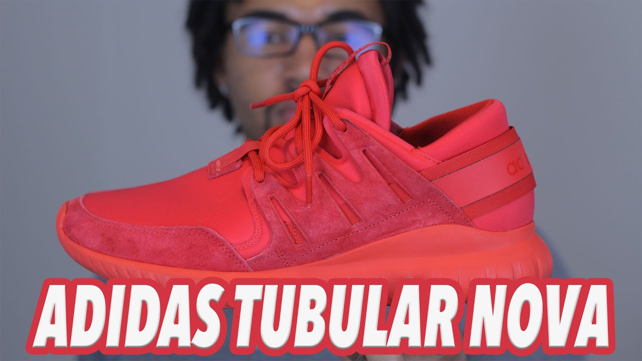 a96177bd027d Adidas Tubular Nova Triple Red Review On Feet - YouTube