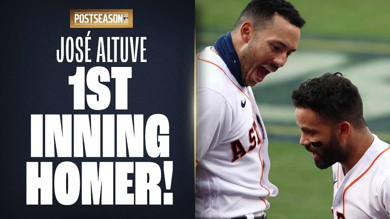 José Altuve smashes 1st inning homer to put Astros up early in ALCS Game 3!