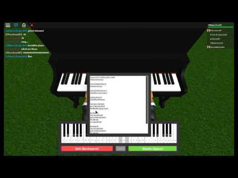 Roblox Piano Songs (Sheets)