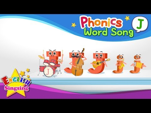 Phonics Word Song J - English Songs - Educational Video For Kids