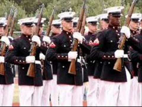 Marine corps Hymn bagpipes and band