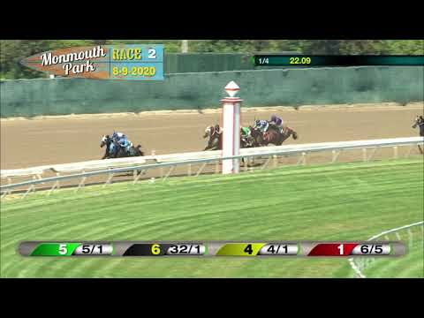 video thumbnail for MONMOUTH PARK 08-09-20 RACE 2