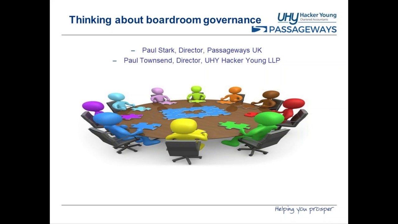 Essentials for Good Governance Inside and Outside the Boardroom