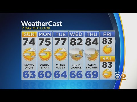 New York Weather: CBS2 8/24 Nightly Forecast at 11PM