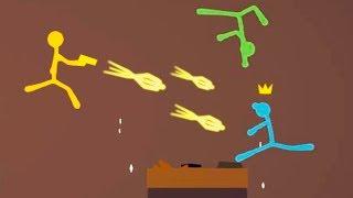 БИТВА МАЛЕНЬКИХ ЧЕЛОВЕЧКОВ И СЕКРЕТНЫЙ ЗОЛОТОЙ ПИСТОЛЕТ В STICK FIGHT THE GAME!