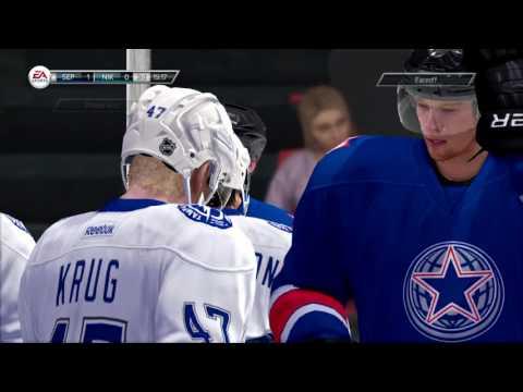 NIKULIN vs Sekira Peruna in HUT #1 | NHL gameplay in 2017