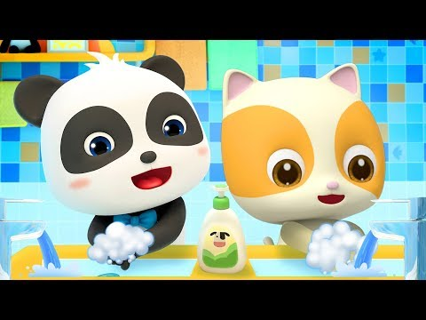 Baby Learns To Wash Hands | Good Habits Song | Nursery Rhymes | Kids Songs | Kids Cartoon | BabyBus