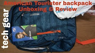 American Tourister AMT Tech Gear Laptop Backpack Unboxing & Review Ordered from Flipkart