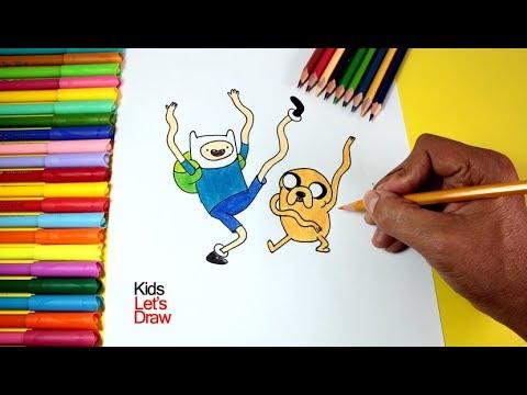 Dibujar y Colorear a FINN y JAKE (Hora de Aventura) | Dibujos para ...