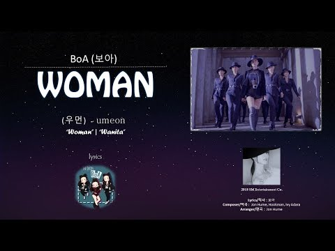 BoA(보아) - WOMAN(우먼) Lyrics - Han | Rom | English | Indo Sub