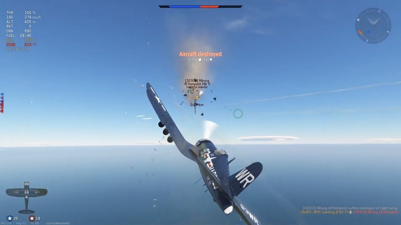 Leave me alone, I'm just trying to grind! War Thunder F4U 7 Air RB