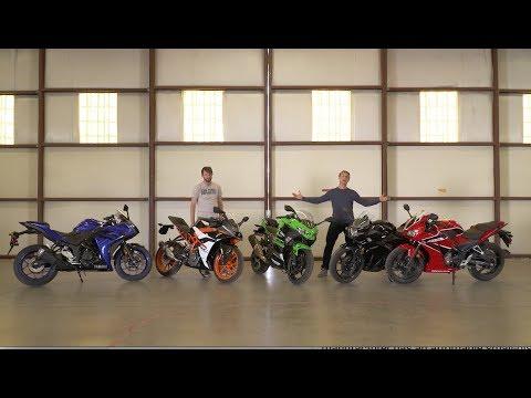 Honda CBR300R vs Kawasaki Ninja 400 vs KTM RC390 vs Suzuki GSX250R vs Yamaha YZF-R3 - On Two Wheels