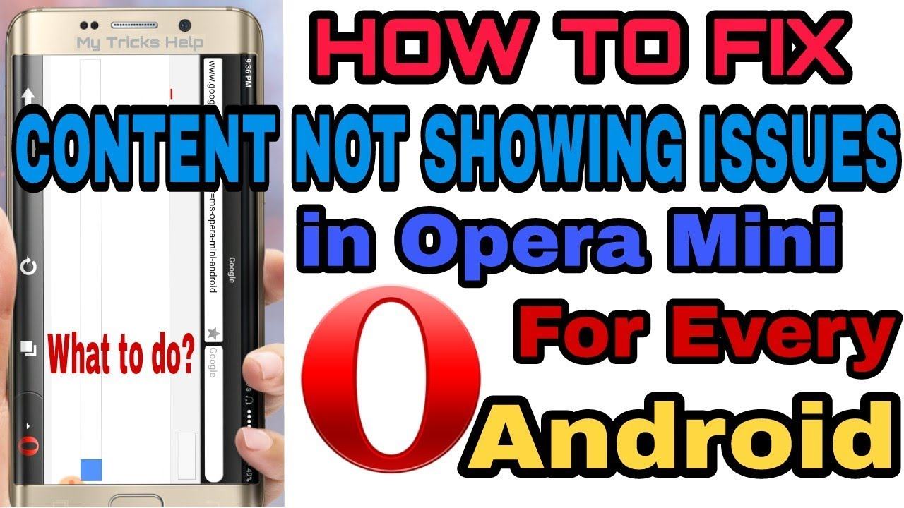 How to fix Content Not Showing Issue in Opera Mini | Opera Mini Handler for  every Android Version