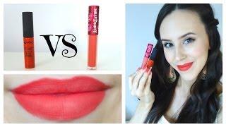 Lime Crime Velvetines Vs Nyx Soft Matte Lip Cream - Beauty With Emily Fox