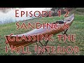 Making a Strip Built Kayak -  Glassing the Hull Interior - E12
