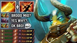 NEW WAY TO COUNTER BROOD EZ! Epic Radiance Elder Titan Mid 9 Min 500 DMG Crazy Fun Gameplay Dota 2