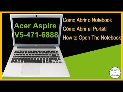 How to Open the Acer Notebook Aspire V5-471-6888(Remove the keyboard, HD, WiFi network card, Cooler)