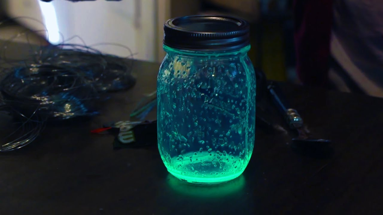 halloween glow jars at home with p allen smith youtube - Glow Stick Halloween Decorations
