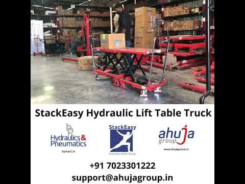When you need a lift table truck to move heavy goods, vertically & horizontally, To and From the machines, Handle Wih Ease with StackEasy!  Email: support@ahujagroup.in | Call: +91 7023301222  Website: https://ahujagroup.in/hpmart/stackeasy-material-handling/hydraulic/lift-table/hydraulic-lift-table-truck-300-kg-se-pt-30-850-x-500.html  StackEasy Material Handling Equipment (Handle with Ease) Quality Products by Ahuja Group,  The Best in Material Handling Equipment.  Ahuja Group was established in 1970, by our Chairman, Er. V. K. Ahuja, an alumnus of Birla Institute of Technology, Ranchi.   StackEasy stands for high-quality Material Handling Equipment, which is stable, dependable, and most importantly affordable.   StackEasy MHE is backed up with excellent after-sales service, assured availability of spare parts, and expert service engineers.  Our experience in the industry helps us understand the challenges and expectations of our customers like no one else.  Our wide range includes a variety of  Hydraulic Pallet Trucks, Hydraulic Table Trucks, and Manual / Semi Electric/ Electric Stackers. Our Hand Truck / Manual Trolleys from StackEasy are Strong and yet Quite Affordable.  Come to us for all your material handling woes and we will offer you a complete solution from either our standard wide product range or customize to your specific needs.  When you need reliable, heavy-duty Material Handling Equipment, StackEasy is your answer. Hand over StackEasy to your workforce and Rest Easy.    Order your StackEasy MHE today and give us all your weight and your stress.  We Handle With Ease.  Email: support@ahujagroup.in | Call: +91 9549641000 | WhatsApp: +91 82093 81783