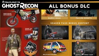 Ghost Recon Wildlands - All DLC Weapons/Outfits/Vehicles (Including Season Pass) Gold & Deluxe DLCs