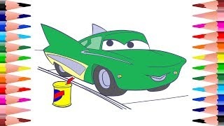 Painting For Kids Disney Cars 3 Coloring pages for Kids - Coloring Flo Disney Cars 3 Coloring Book