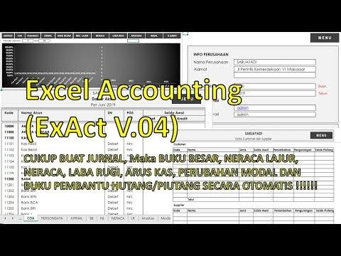 Aplikasi Excel Akuntansi (ExAct V.04 2019) - Cara Penggunaan