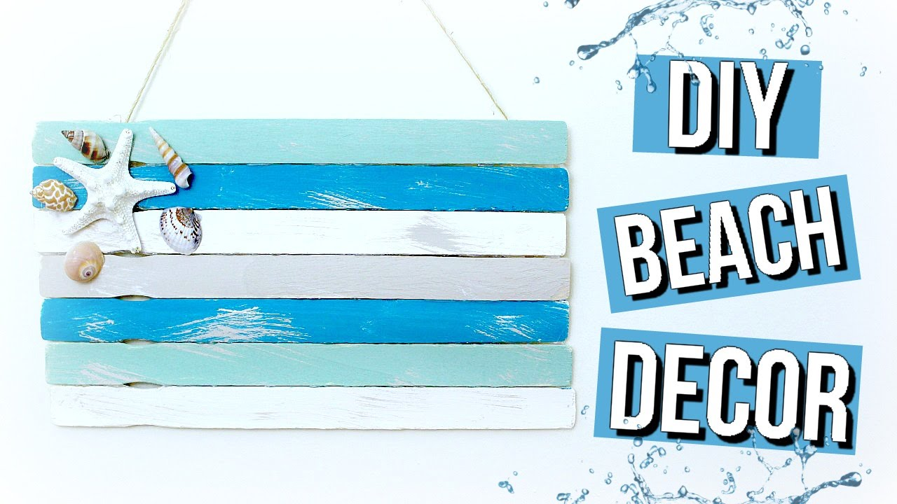 DIY Beach Room Decor Pinterest Inspired Beach Flag YouTube