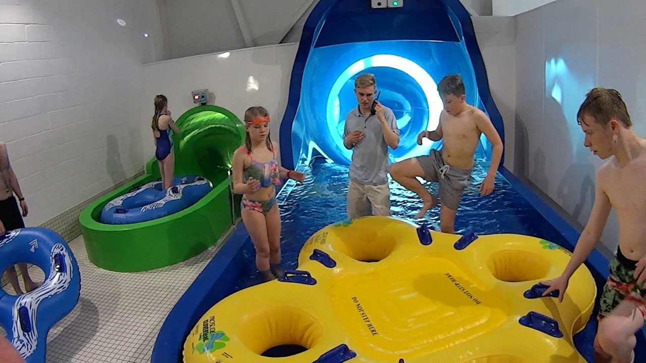 Snow Storm Water Slide at Alpamare Scarborough  YouTube
