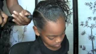 Styling My 7 Yr Olds Hair